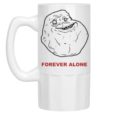 Пивная кружка Forever alone