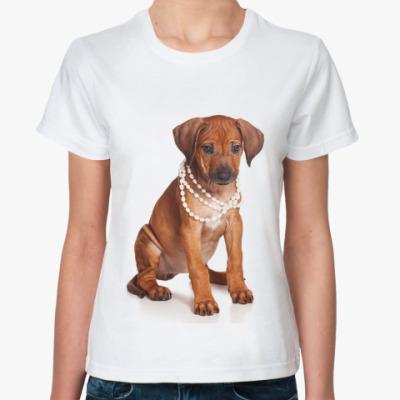 Классическая футболка Щенки и собаки