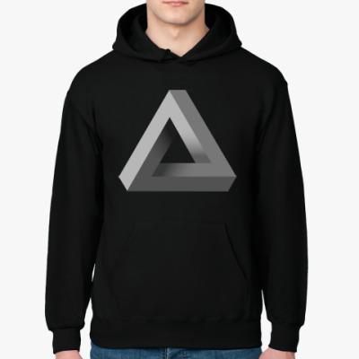 Толстовка худи Невозможный Треугольник 3D