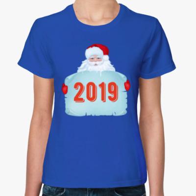 Женская футболка Санта Клаус 2019