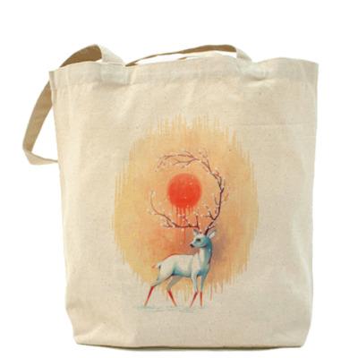 Сумка Дух весны белый олень