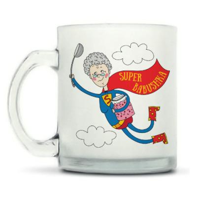 Кружка матовая Супер - бабушка!