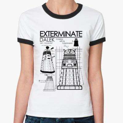 Женская футболка Ringer-T Dalek plan