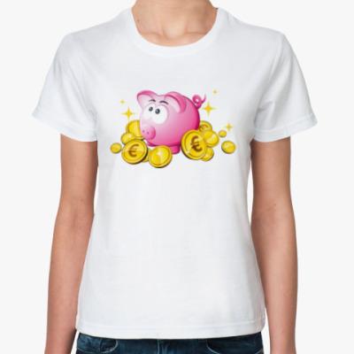 Классическая футболка Piggy Bank
