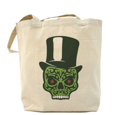 Сумка Холщовая сумка Green Skull