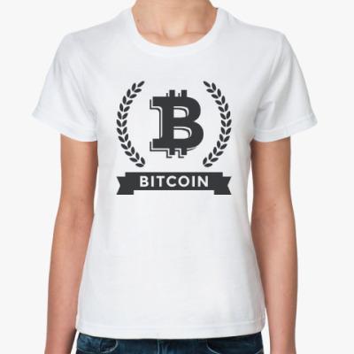 Классическая футболка Bitcoin - Биткоин