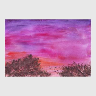 Постер вечернее небо