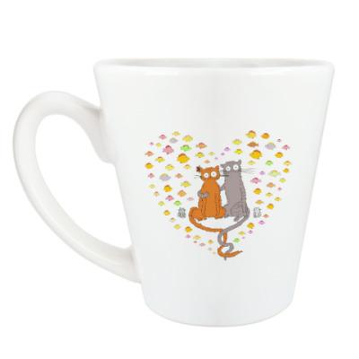 Чашка Латте Котики