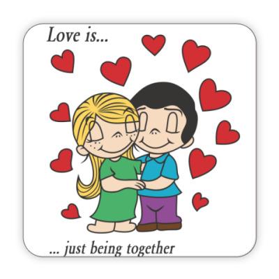 Костер (подставка под кружку) LOVE IS