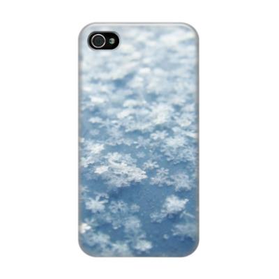 Чехол для iPhone 4/4s Снежинки