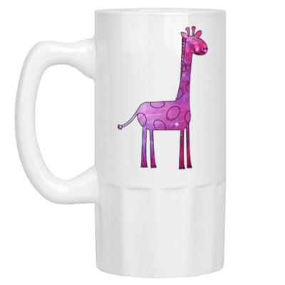 Пивная кружка Космический Жираф