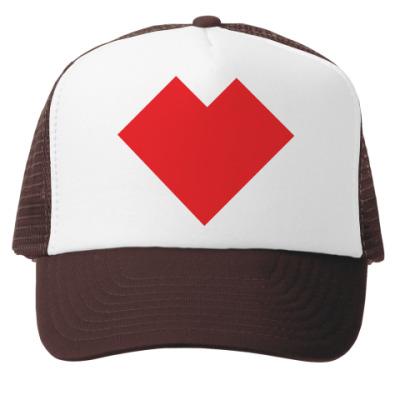 Кепка-тракер Сердце танграм