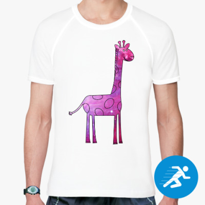 Спортивная футболка Космический Жираф
