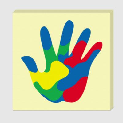 Холст Отпечаток Руки
