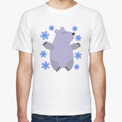 Футболка Белый мишка