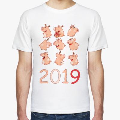 Футболка 2019 год Свиньи