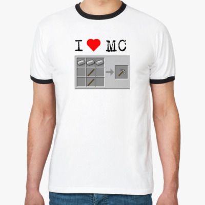 Футболка Ringer-T   'I love MC'