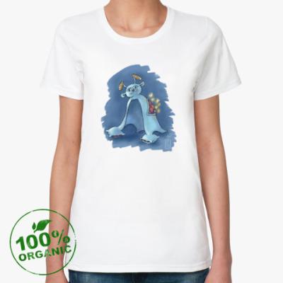 Женская футболка из органик-хлопка Хыр-хыр, дух сна