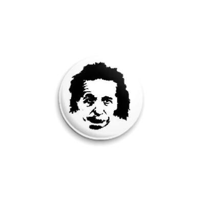 Значок 25мм Albert Einstein