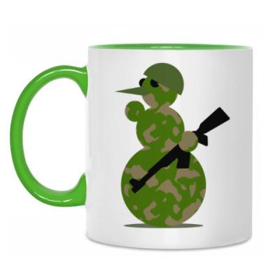 Кружка Военный снеговик
