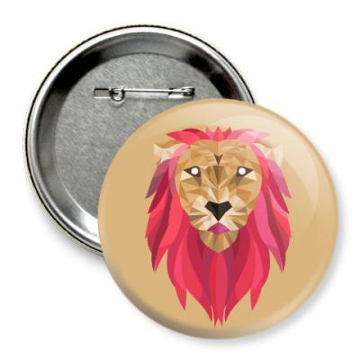 Значок 75мм Лев / Lion