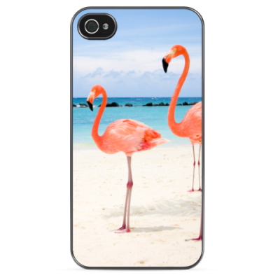 Чехол для iPhone Фламинго