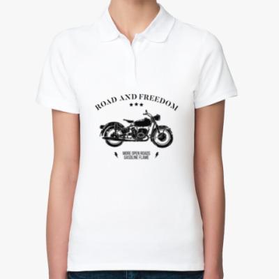 Женская рубашка поло Король дорог (мотоцикл)