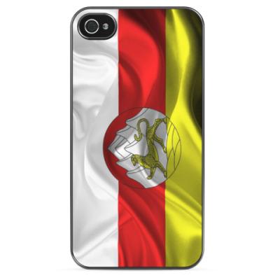 Чехол для iPhone Осетинский флаг с гербом