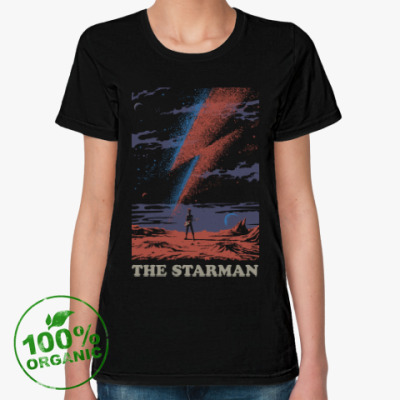 Женская футболка из органик-хлопка David Bowie Starman Дэвид Боуи