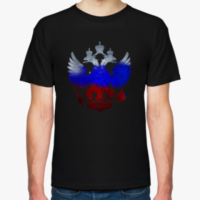 Футболка Герб РФ (триколор)