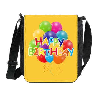 Сумка на плечо (мини-планшет) Happy Birthday