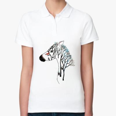 Женская рубашка поло Zebra