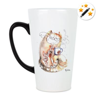 Кружка-хамелеон Кофе и Кот