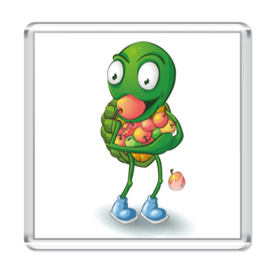 Магнит Добрый Черепашонок с яблоками