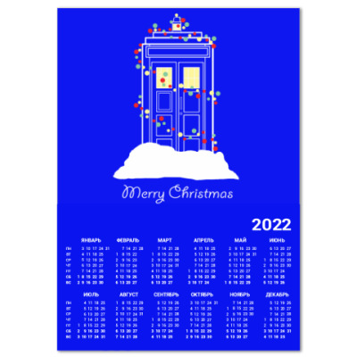 Календарь Новогодний Тардис Доктор Кто