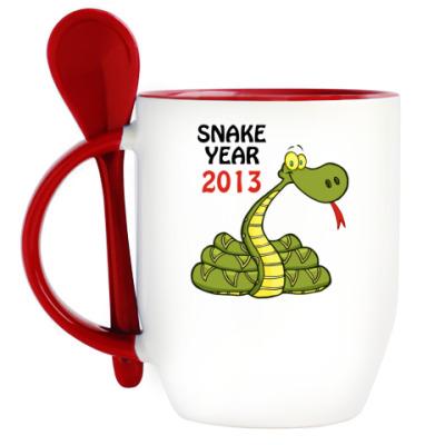 Кружка с ложкой Змеиный год