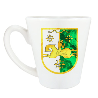 Чашка Латте Герб Абхазии
