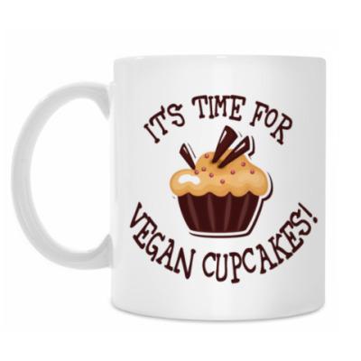 Кружка It's time for vegan cupcakes!