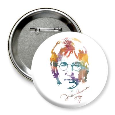 Значок 75мм The Beatles - John Lennon
