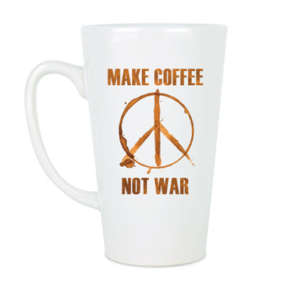 Чашка Латте Make Coffee Not War