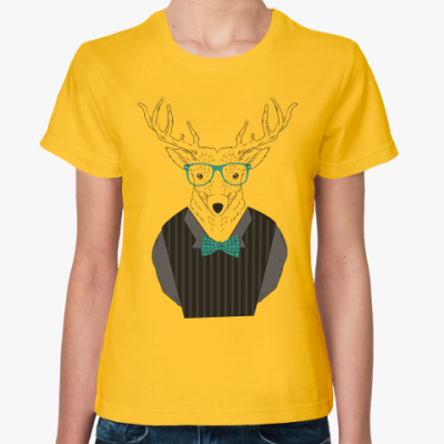 Женская футболка Модный олень
