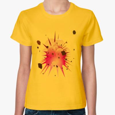 Женская футболка Взрыв женская футболка