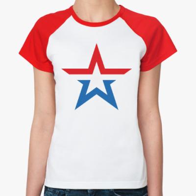 Женская футболка реглан Армия России