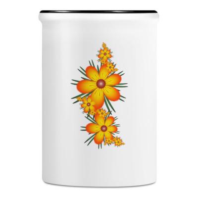 Подставка для ручек и карандашей Огнецветы