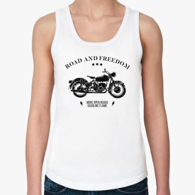 Женская майка Король дорог (мотоцикл)