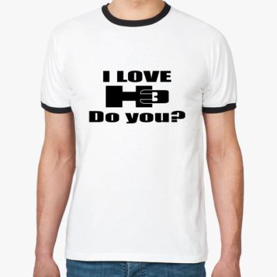 Футболка Ringer-T I love H3. Do you?