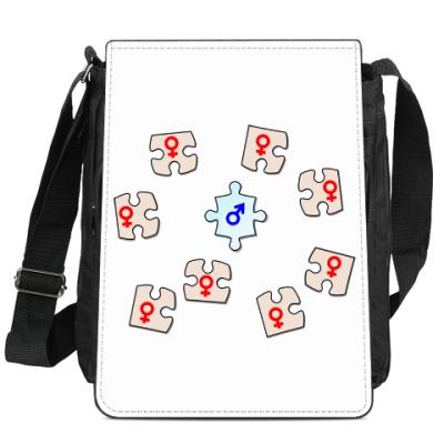 Сумка-планшет Интересные пазлы