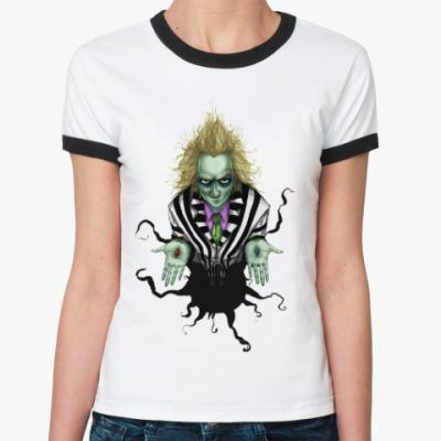 Женская футболка Ringer-T Битлджус