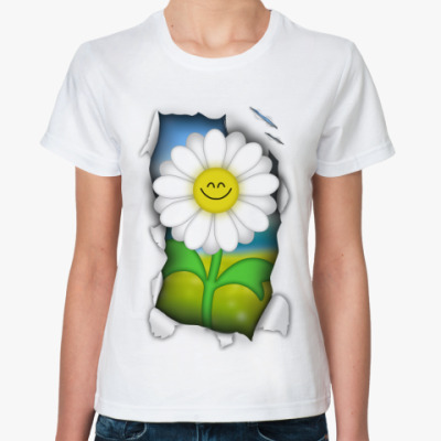 Классическая футболка Ромашка