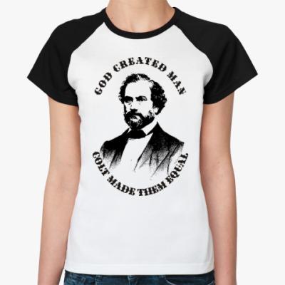 Женская футболка реглан Кольт